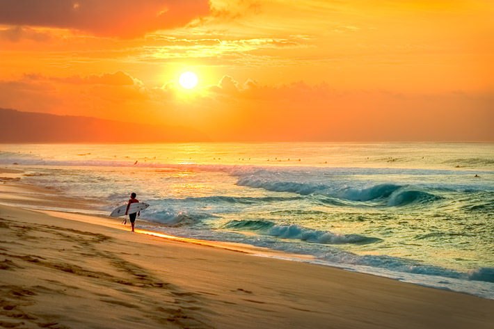 (Sunset Beach, North Shore of Oahu - Hawaii